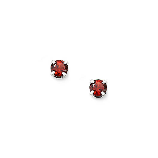 View Larger Image of Garnet Gemstone Ear Posts
