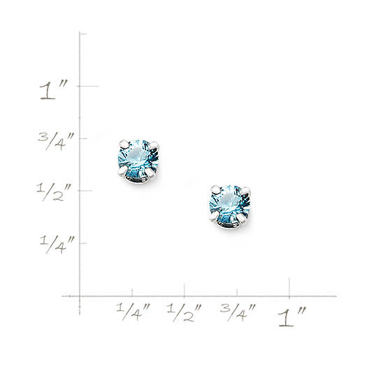 View Larger Image of Blue Topaz Gemstone Ear Posts