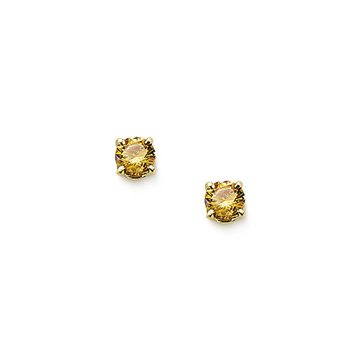 View Larger Image of Citrine Gemstone Ear Posts