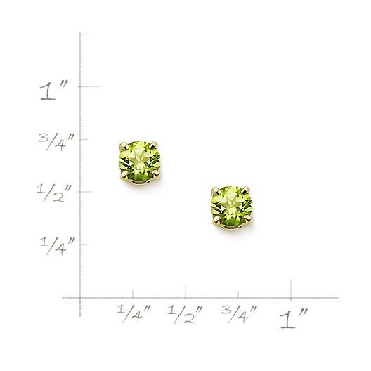 View Larger Image of Peridot Gemstone Ear Posts
