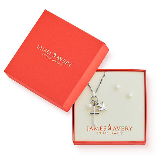 View Larger Image of Faithful Spirit Pendant with Cultured Pearl Gift Set
