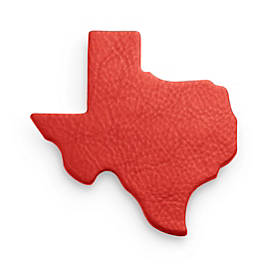 Pebble Leather Texas Coaster Set