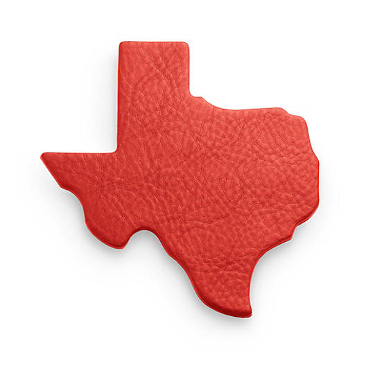 View Larger Image of Pebble Leather Texas Coaster Set