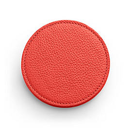 Pebble Leather Round Coaster Set