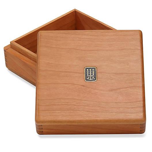 Medium Square Wood Box