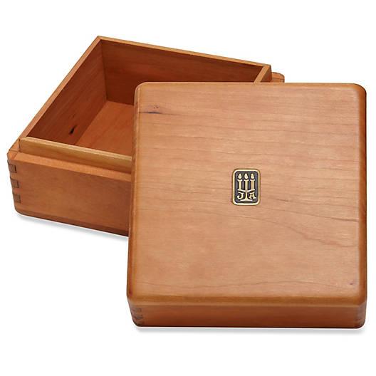 View Larger Image of Large Square Wood Box