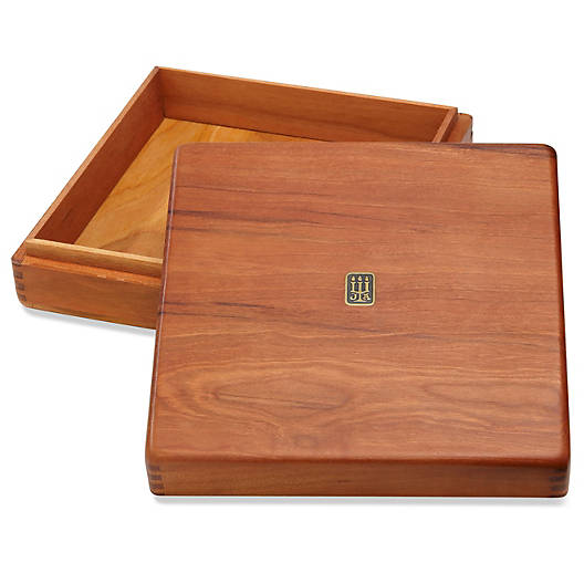 View Larger Image of X-Large Square Wood Box