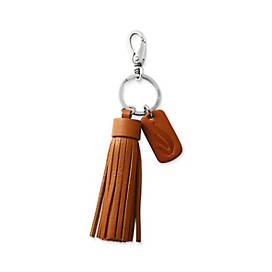 Leather Logo Tassel Key Chain