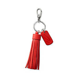Leather Logo Tassel Key Chain