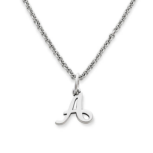 View Larger Image of Script Initial Charm on Light Cable Chain