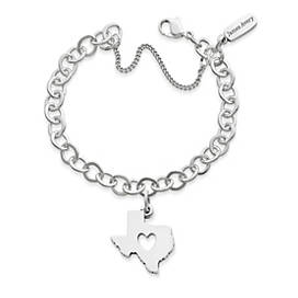Deep in the Heart of Texas Charm on Forged Link Charm Bracelet