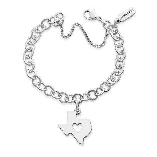 View Larger Image of Deep in the Heart of Texas Charm on Forged Link Charm Bracelet
