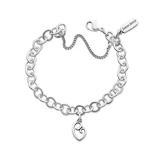 View Larger Image of Delicate Mother's Love Charm on Forged Link Charm Bracelet