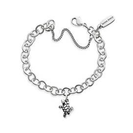 Turtle Charm on Forged Link Charm Bracelet