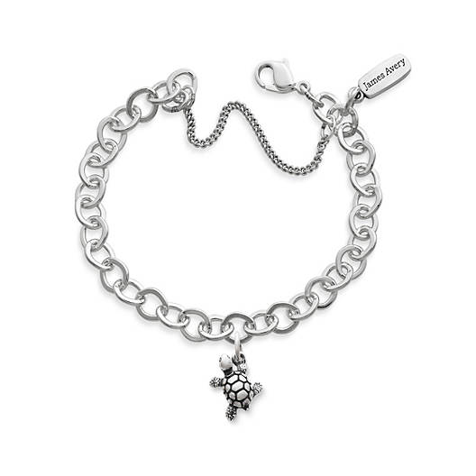 View Larger Image of Turtle Charm on Forged Link Charm Bracelet