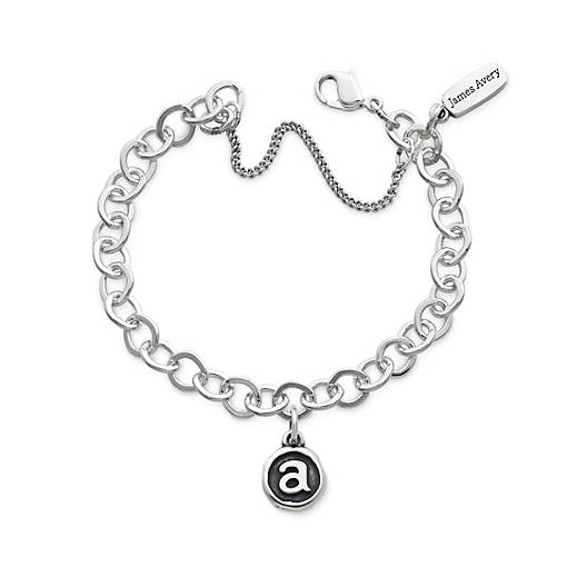 View Larger Image of Vintage Type Charm on Forged Link Charm Bracelet