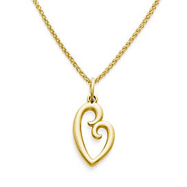 Large Mother's Love Charm on Light Spiga Chain