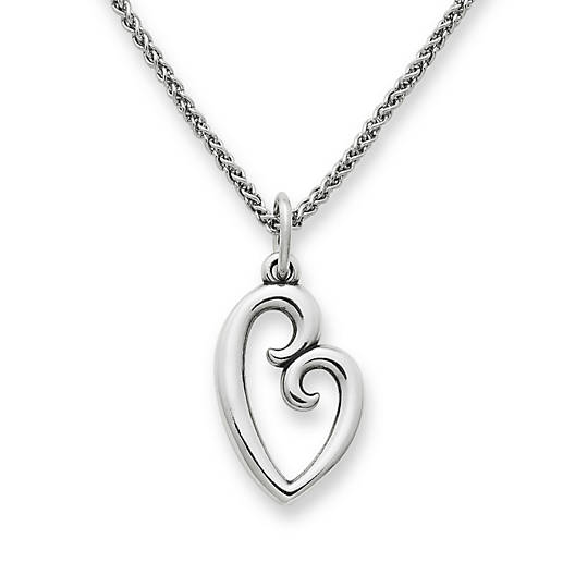 View Larger Image of Large Mother's Love Charm on Light Spiga Chain