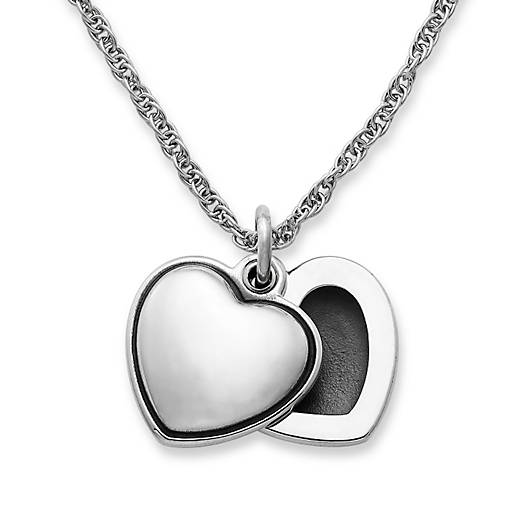 View Larger Image of Swivel Heart Locket on Medium Rope Chain