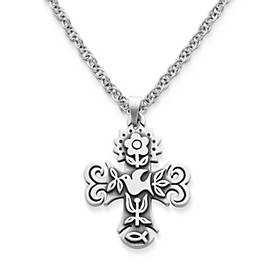 Medium La Primavera Cross on Medium Rope Chain
