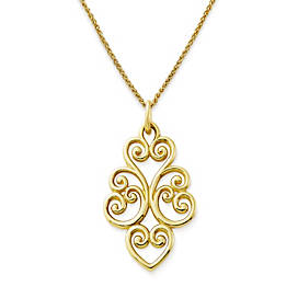 Jubilant Heart Pendant on Fine Spiga Chain