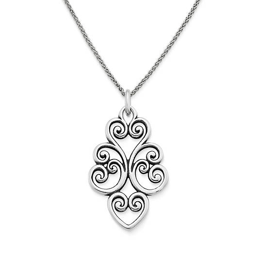 View Larger Image of Jubilant Heart Pendant on Fine Spiga Chain