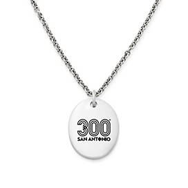 Tricentennial Commemorative Oval Charm on Light Cable Chain