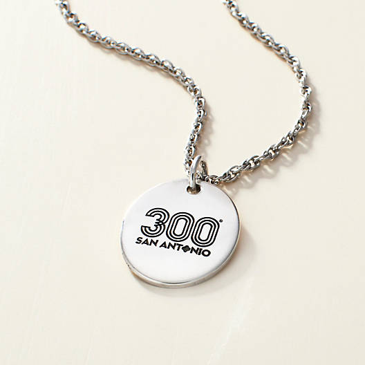 View Larger Image of Tricentennial Commemorative Oval Charm on Light Cable Chain
