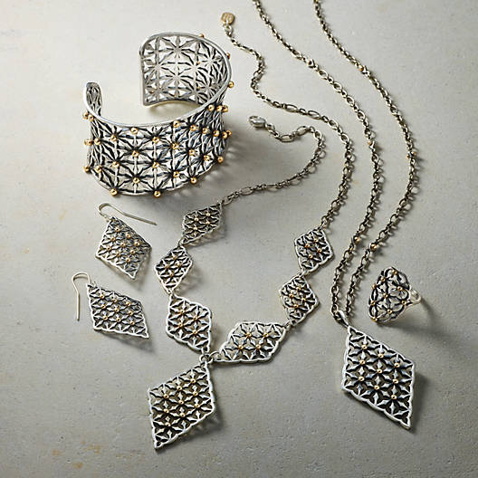 View Larger Image of Lattice Pendant Necklace