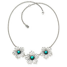 Floral Necklace with Turquoise