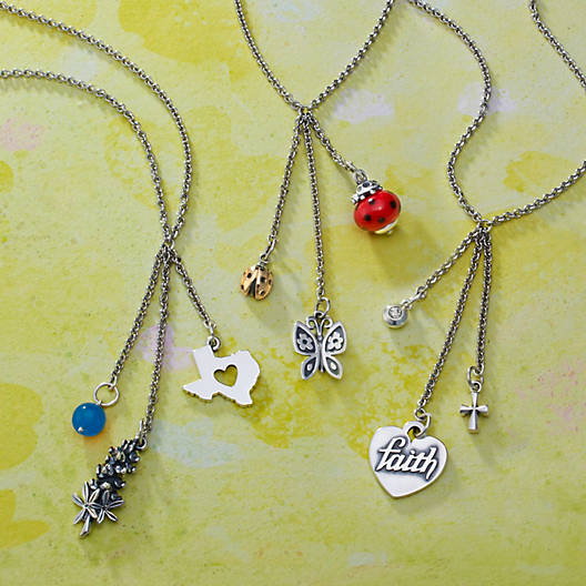 View Larger Image of Cascading Charm Necklace