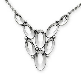 Open Oval Loops Necklace