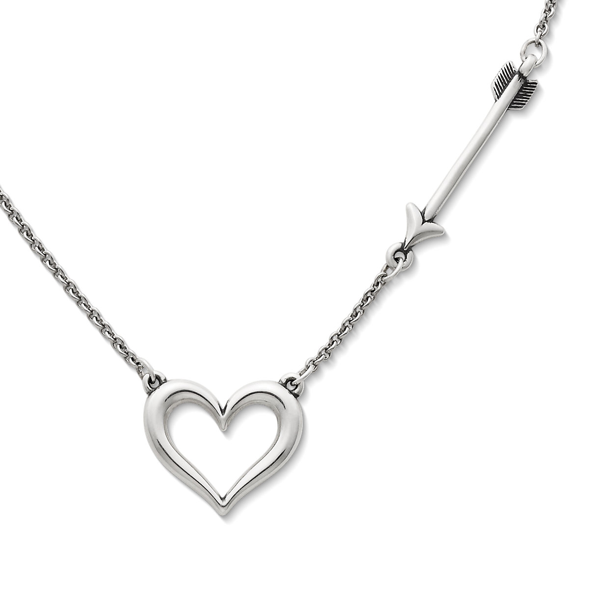 Silver necklaces pendant necklaces james avery love struck heart necklace aloadofball Image collections