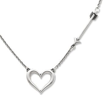 Stunning Large Silver Heart Scarf Ring Pendant Valentines Day Gift