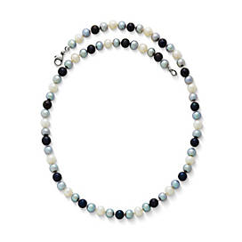 Cultured Burgeon Pearl Necklace