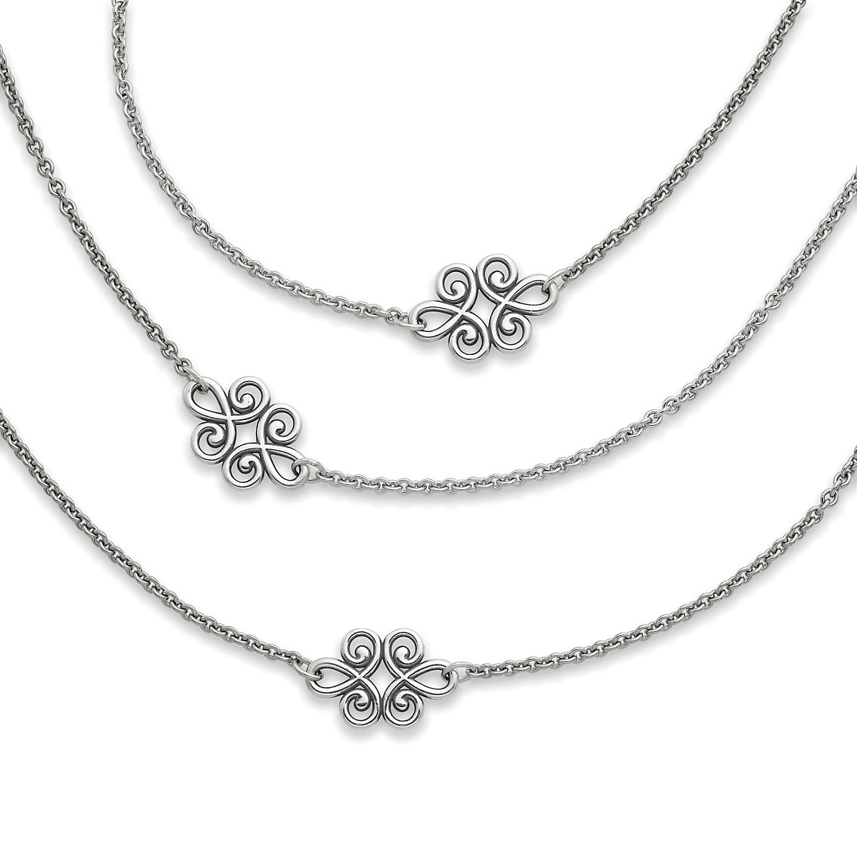 Silver necklaces pendant necklaces james avery linked swirls necklace aloadofball Image collections