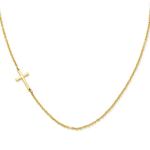 Horizon Cross Necklace