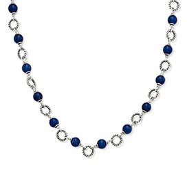 Twisted Wire Link Necklace with Sodalite