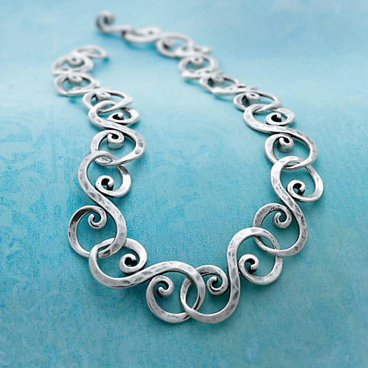 View Larger Image of Forged Gentle Waves Necklace