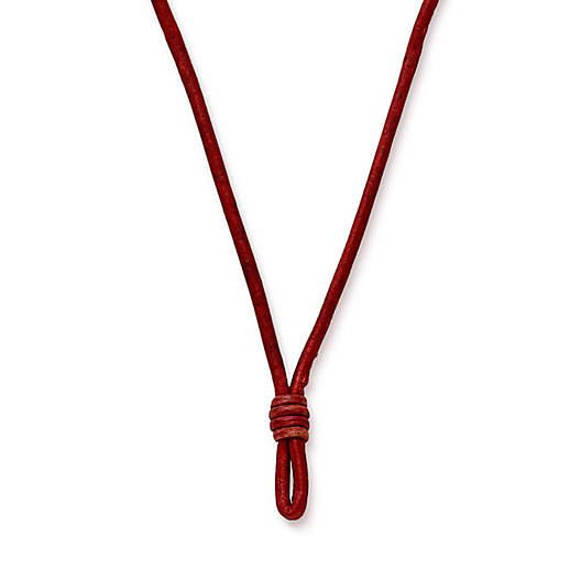 View Larger Image of Riata Leather Charm Necklace