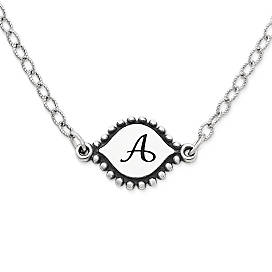 Silver necklaces pendant necklaces james avery memoir initial necklace mozeypictures Image collections