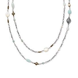 Tessares Necklace with Amazonite and Mother of Pearl