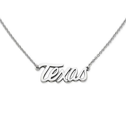 "View Larger Image of ""Texas"" Script Necklace"