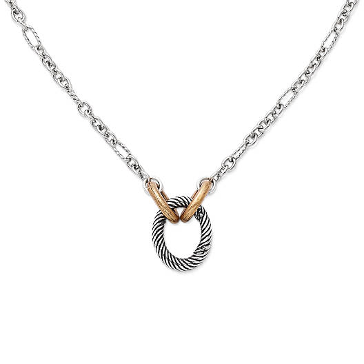 View Larger Image of Oval Twist Changeable Charm Holder Necklace