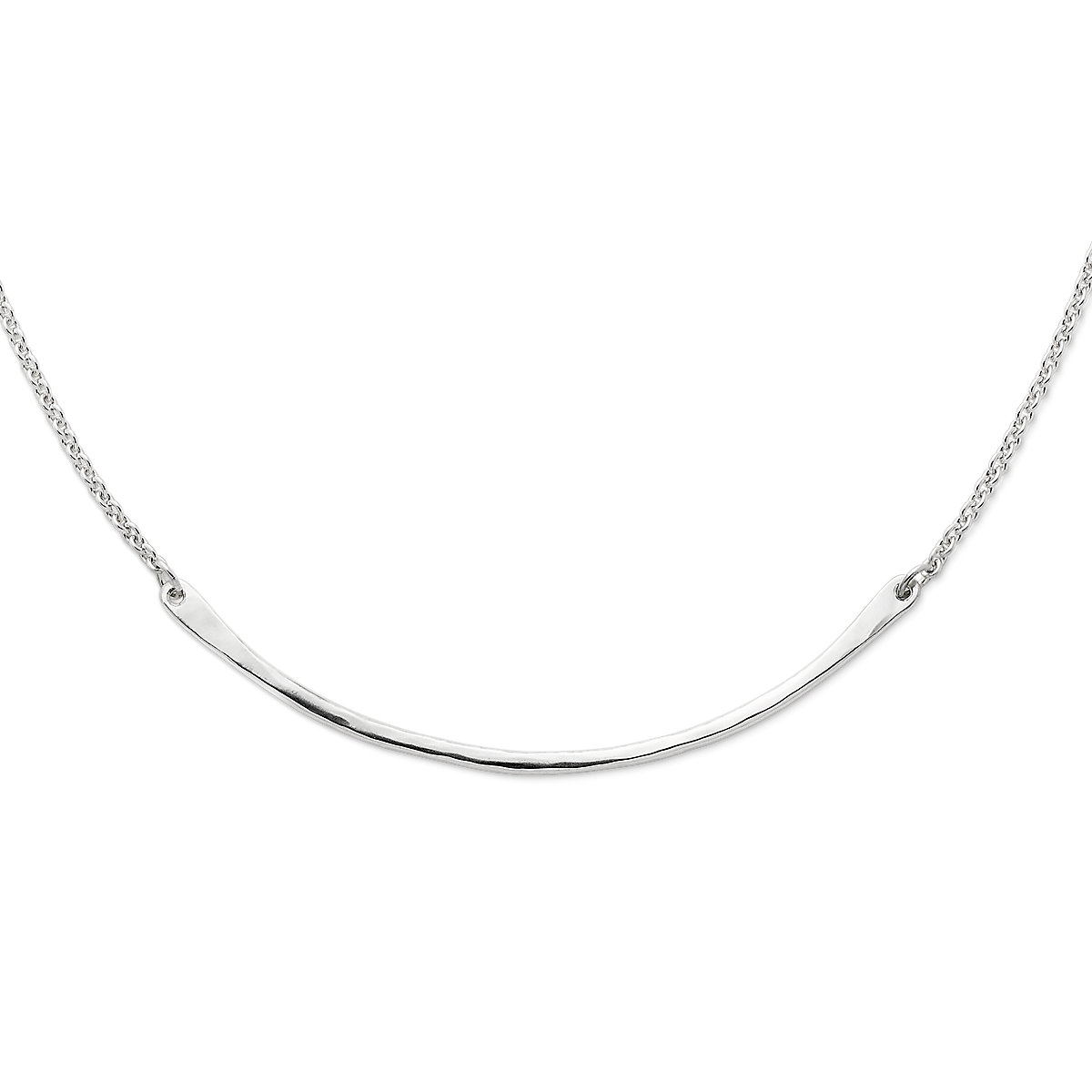 Hammered Crescent Changeable Charm Holder Necklace   James Avery