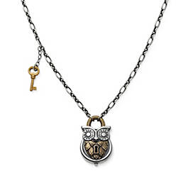 Owl Lock Necklace