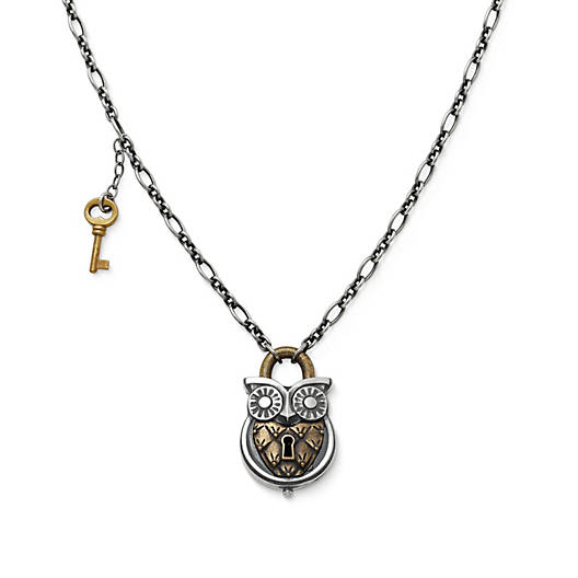 View Larger Image of Owl Lock Necklace
