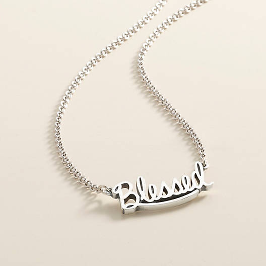 "View Larger Image of ""Blessed"" Necklace"