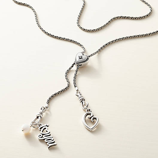 View Larger Image of Vintage Heart Slider Changeable Charm Necklace