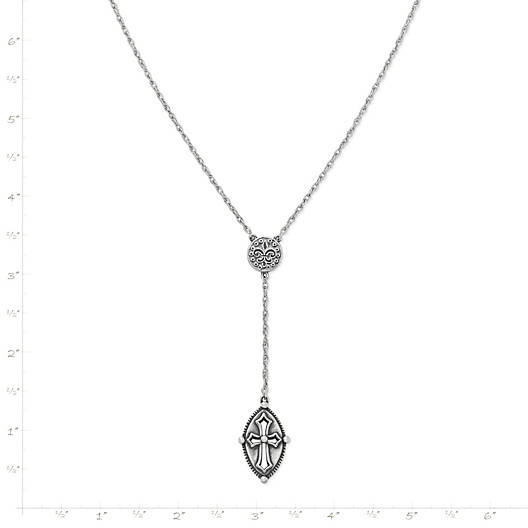 View Larger Image of Vintage Cross Lariat Necklace